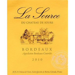 CH SOURS LA SOURCE BORDEAUX 10 750ML