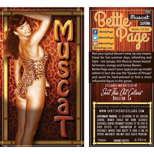 BETTIE PAGE MUSCAT 14 750ML - Fireside Cellars