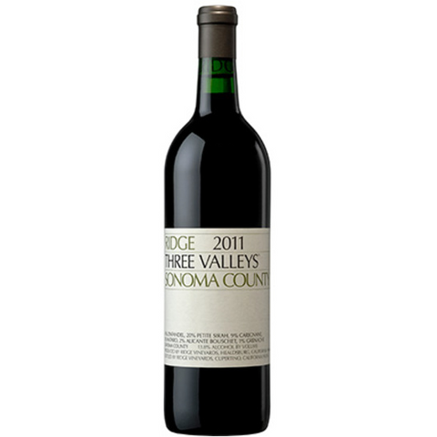 RIDGE ZINFANDEL THREE VALLEYS 13 750ML