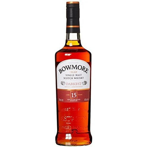 BOWMORE DARKEST 15 YR 750ML