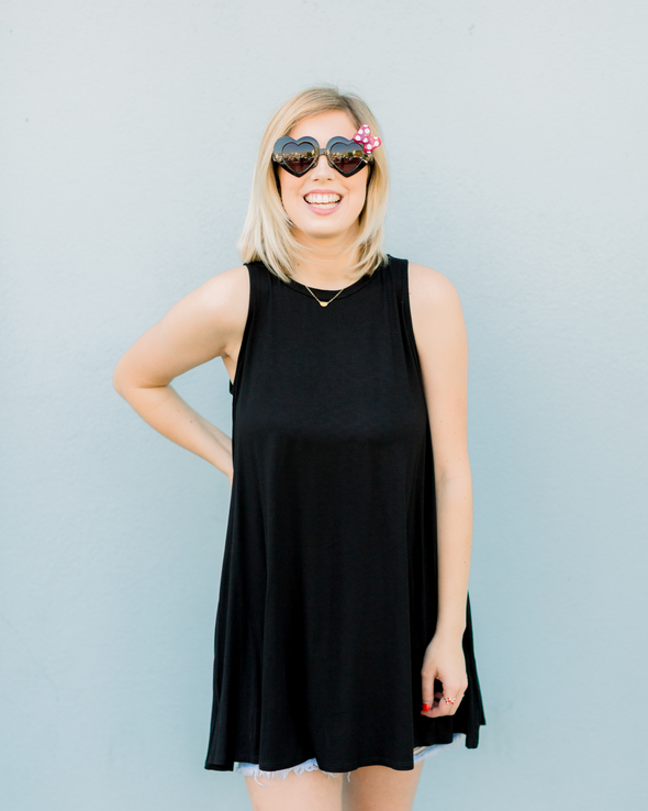 Truly Black Sleeveless Tunic