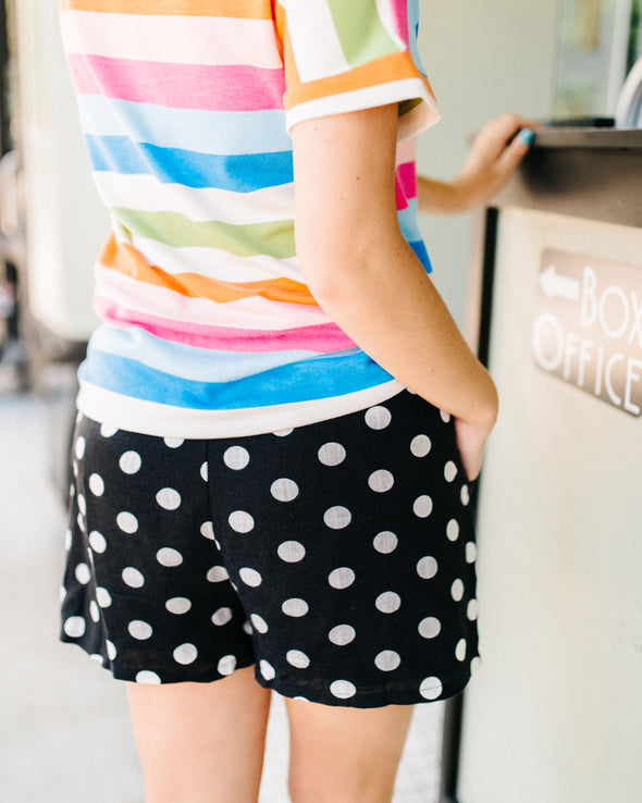 Bow Baby Dotted Shorts