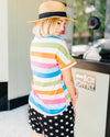 Good Vibes Striped Tee