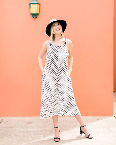 Creamy Dreamy Dotted Jumpsuit