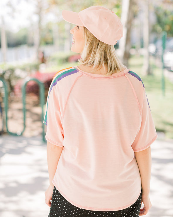 Pink Babe Relaxed Top