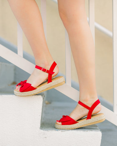 Festival Bow Wedges
