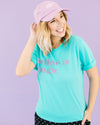 Believe In Magic Tee- Teal & Purple