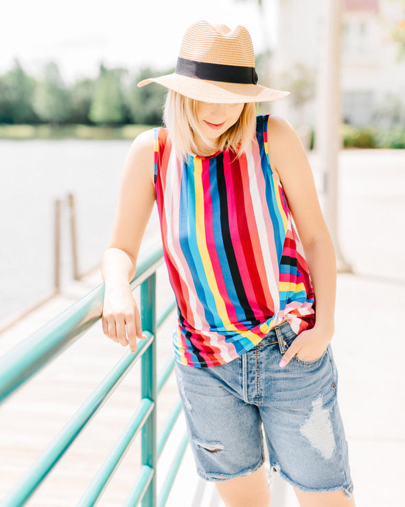 Forget Me Knot Rainbow Top