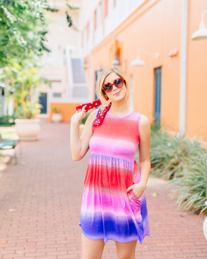 Violet Sunset Tank Dress