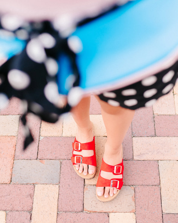 Ruby Red Sandals