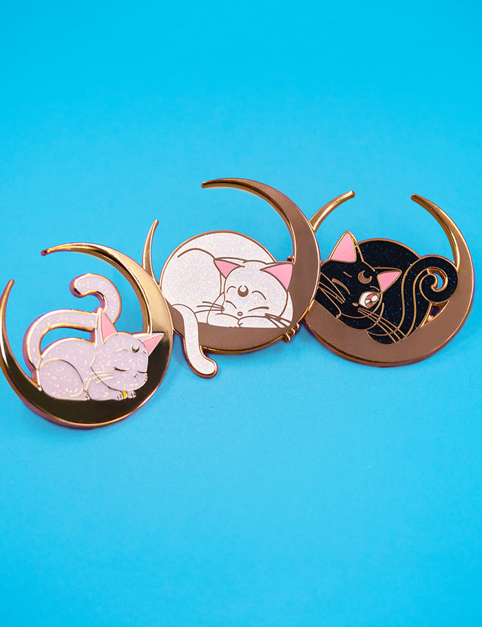 SAILOR GLITTER CATS LIMITED EDITION PINS