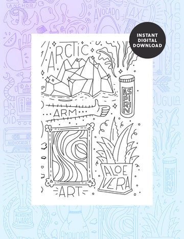 Letter A Colouring sheet - Part 4