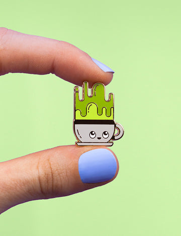 Matcha Buddy Pin