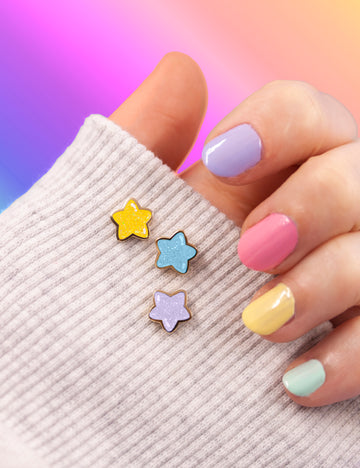 Mini star pin set