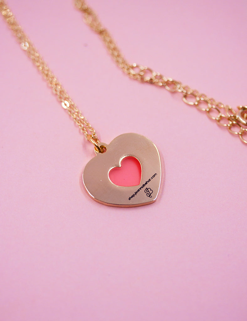 Quarter HEART 22kt Gold Plated Necklace