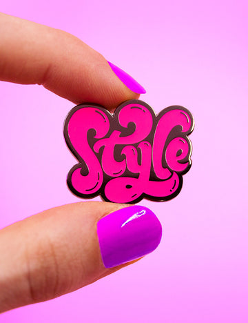 STYLE PIN - Neon pink