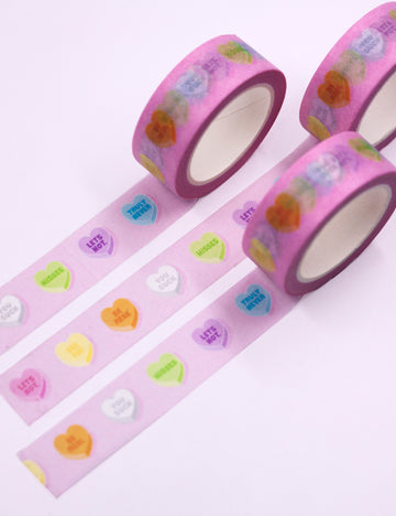 Anti valentine hearts Washi tape
