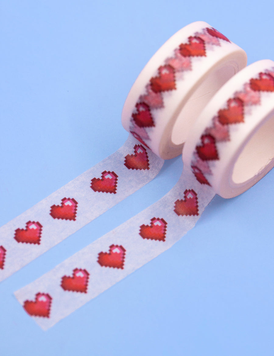 Pixel hearts Washi tape