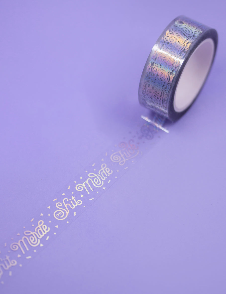 clear & holographic Insult Washi tape