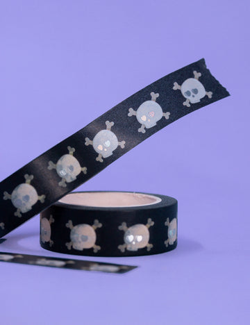 Holographic skull Washi tape