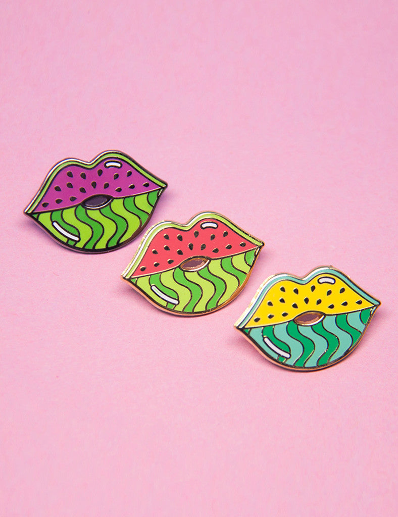 WATERMELIPS PIN - PINK