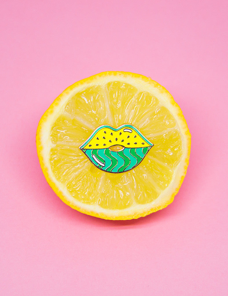 WATERMELIPS PIN - YELLOW