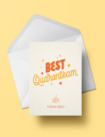 Best Quaranteam postcard