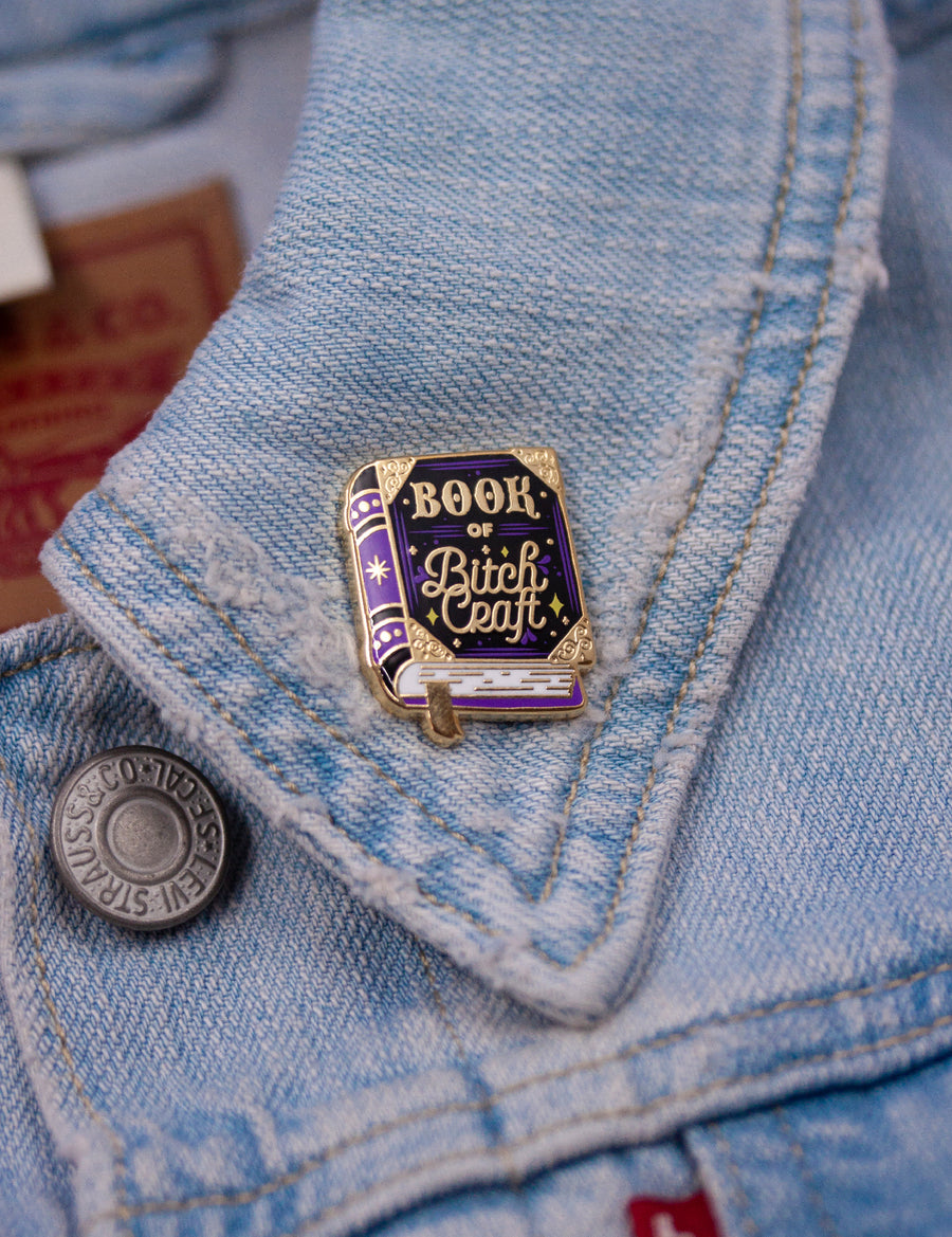 Book of Bitch Craft pin