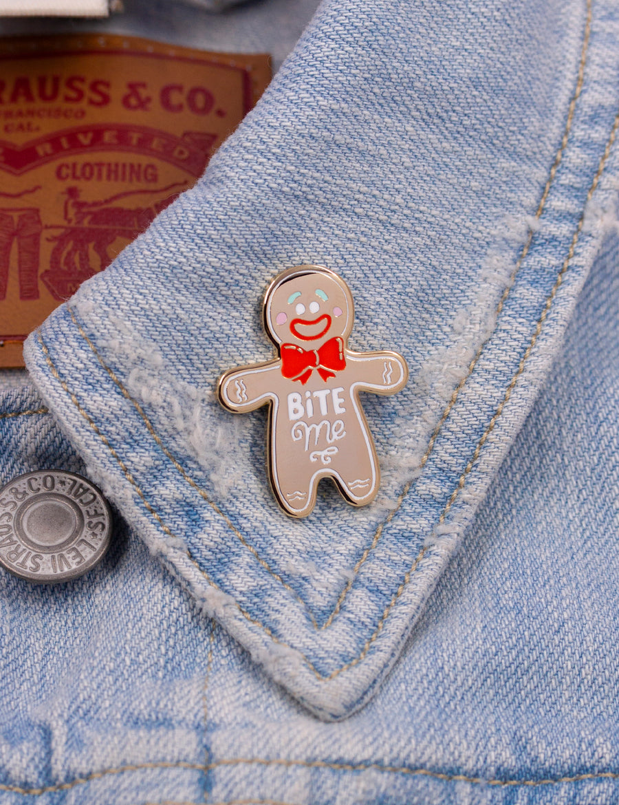 Gingerbread Bite me pin
