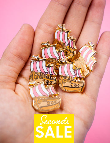 Neverland Boat pin - SECONDS