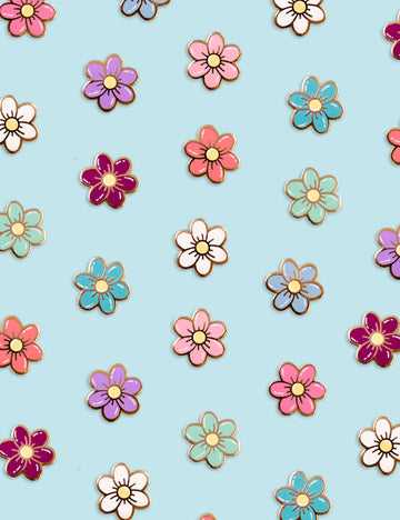 Spring Flowers pin Set