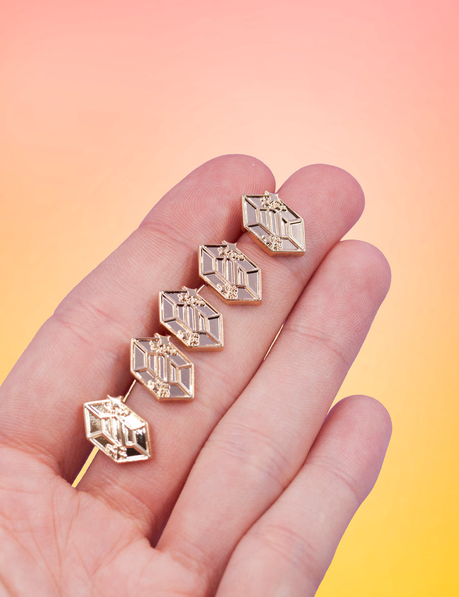 Limited edition gold Gem Pins