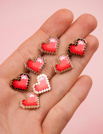 PIXEL HEART PINS