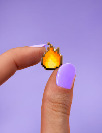 Flame pixel pin