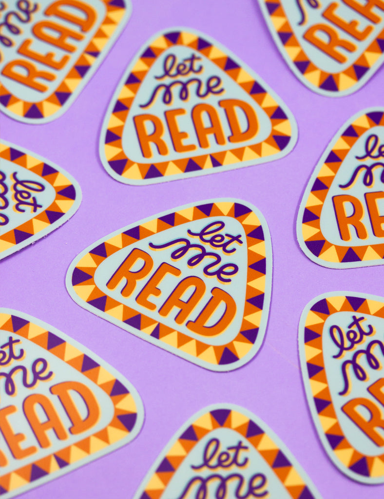 LET ME READ Sticker