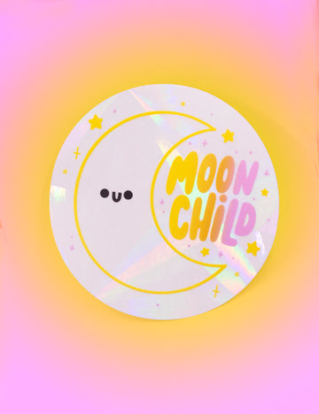 Moon child Suncatcher Decal - Collab with Helen Bucher