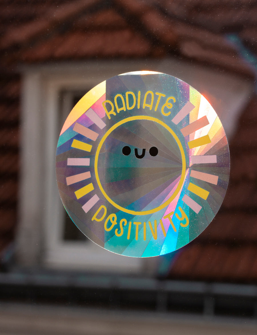 Radiate Positivity Suncatcher Decal - Collab with Helen Bucher