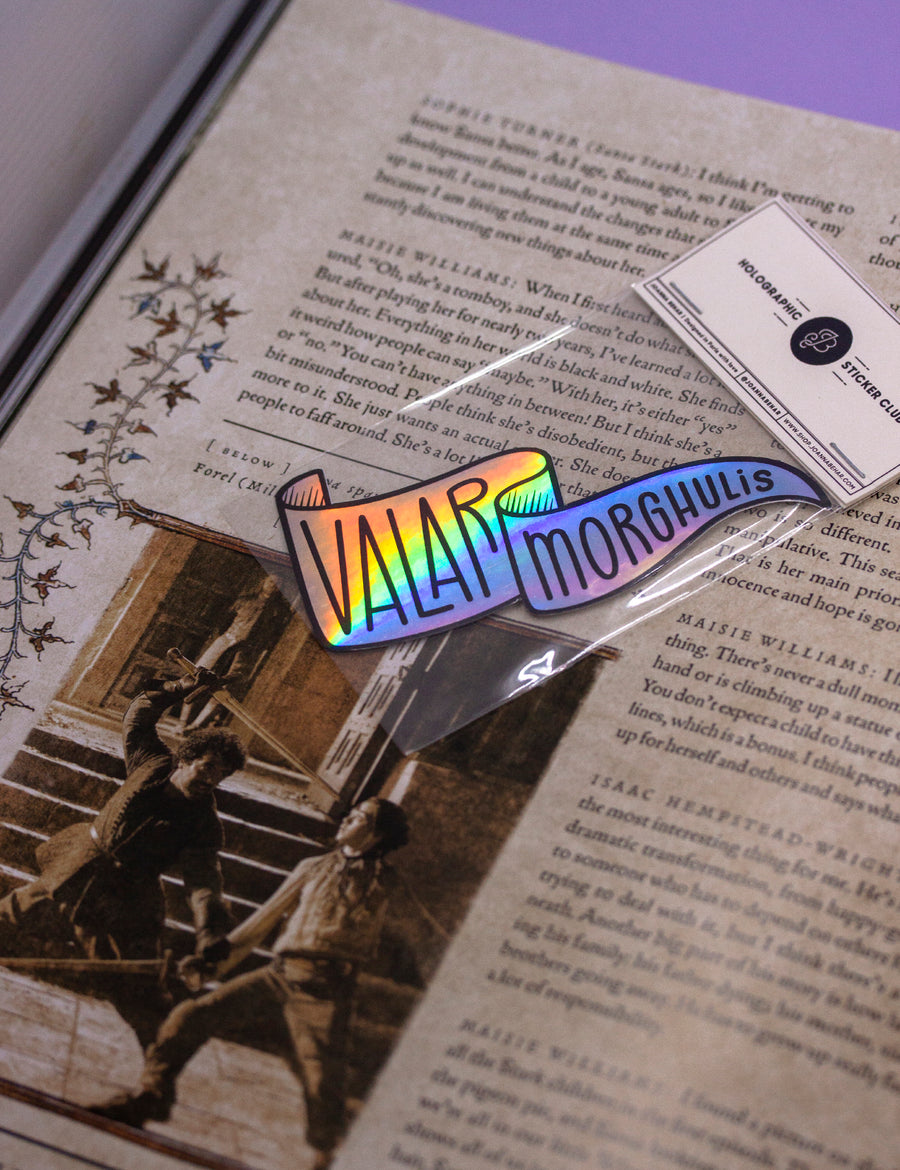 Valar Morghulis HOLO STICKERS