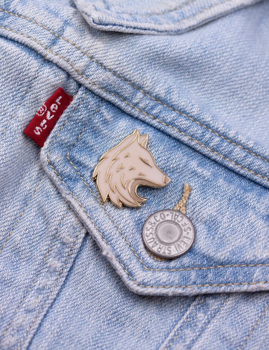 Dire wolf Pin