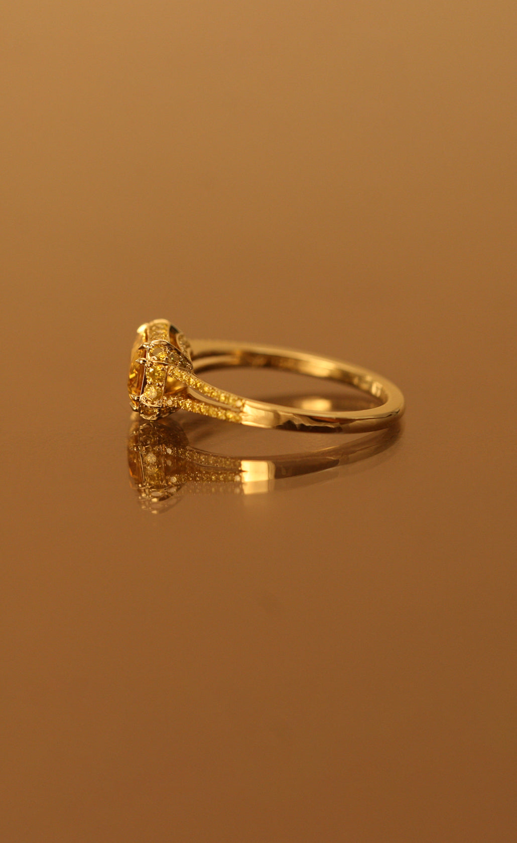 natural shape finals ring pink diamond canary gold pear fancy cocktail engagement rings yellow