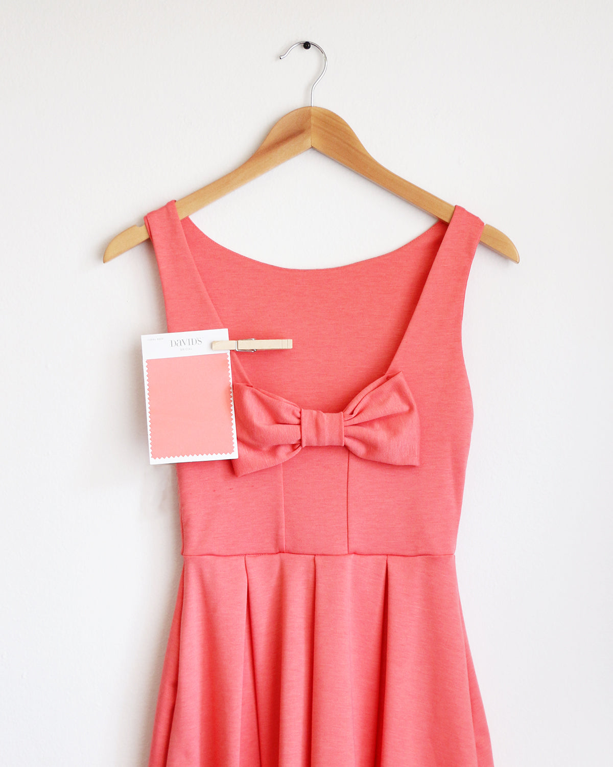 Apricity - JANUARY Dress in Watermelon - David's Bridal Coral Reef bridesmaid dress swatch