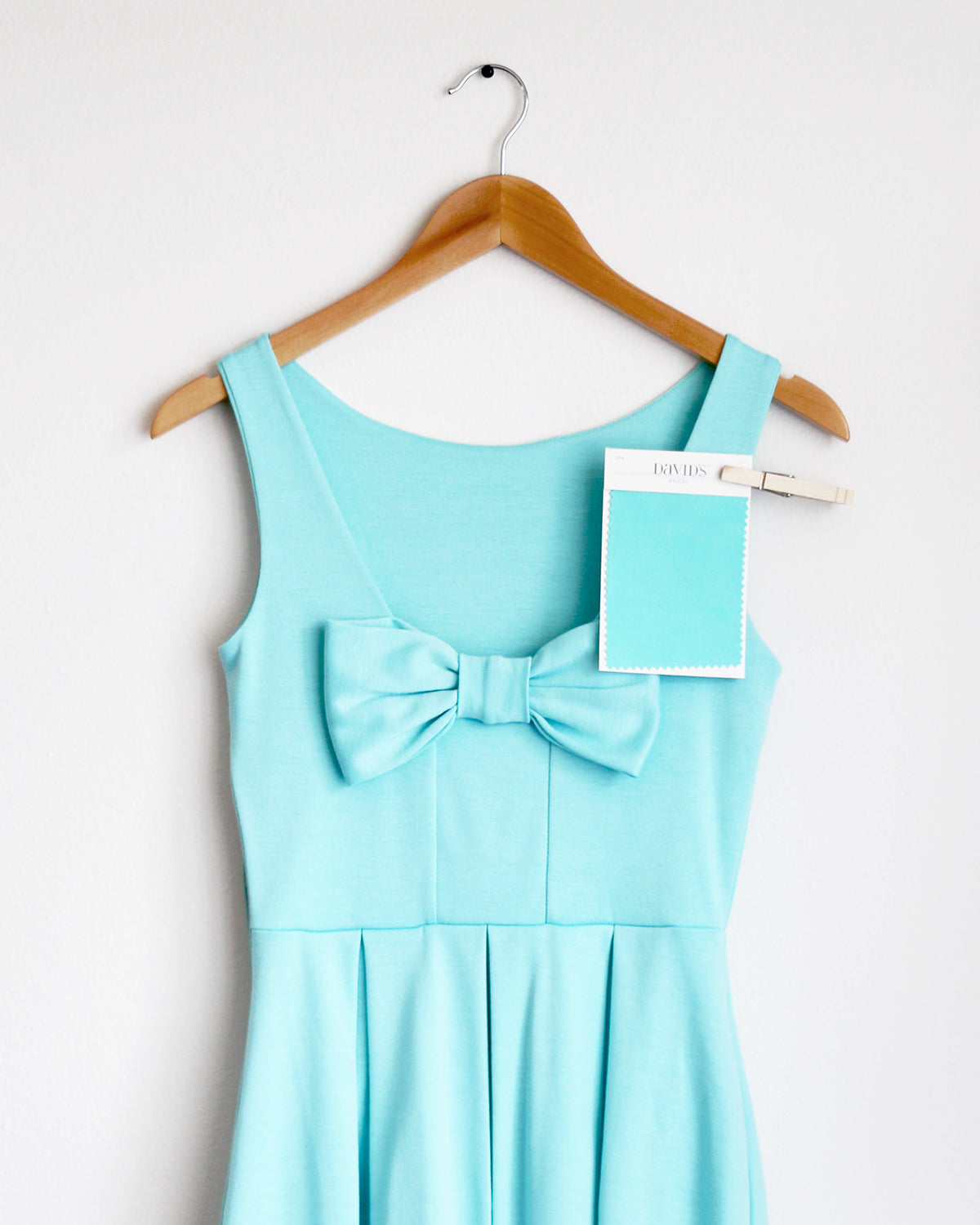 Apricity - JANUARY Dress in Aqua - David's Bridal Spa bridesmaid dress swatch