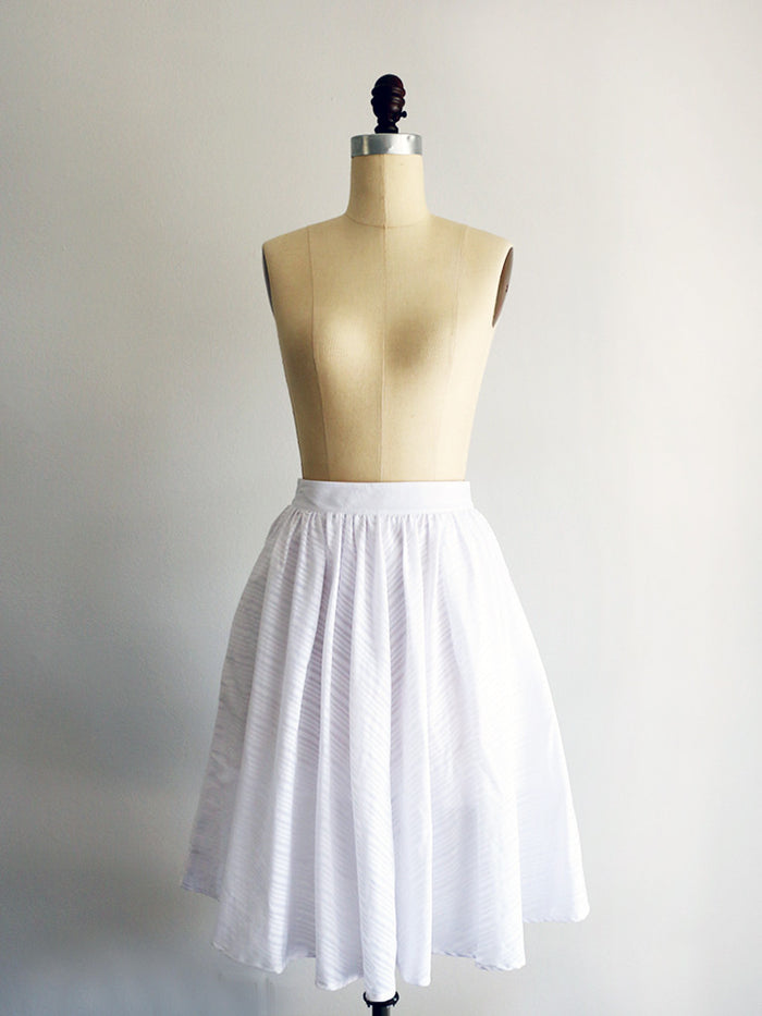 :: SAMPLE SALE :: LAWN | White | Skirt