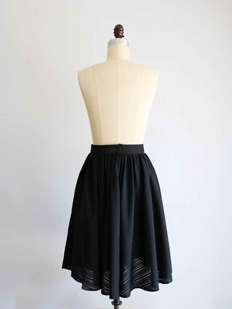 LAWN | Black | Skirt - UNLINED