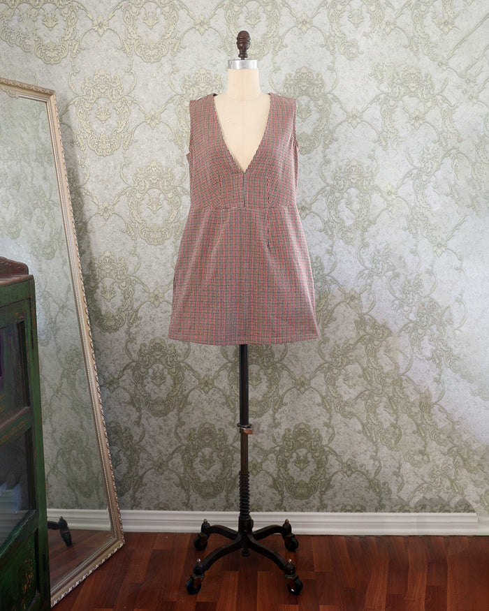 :: Handmade :: SYDNEY Dress - Mocha Mini Check