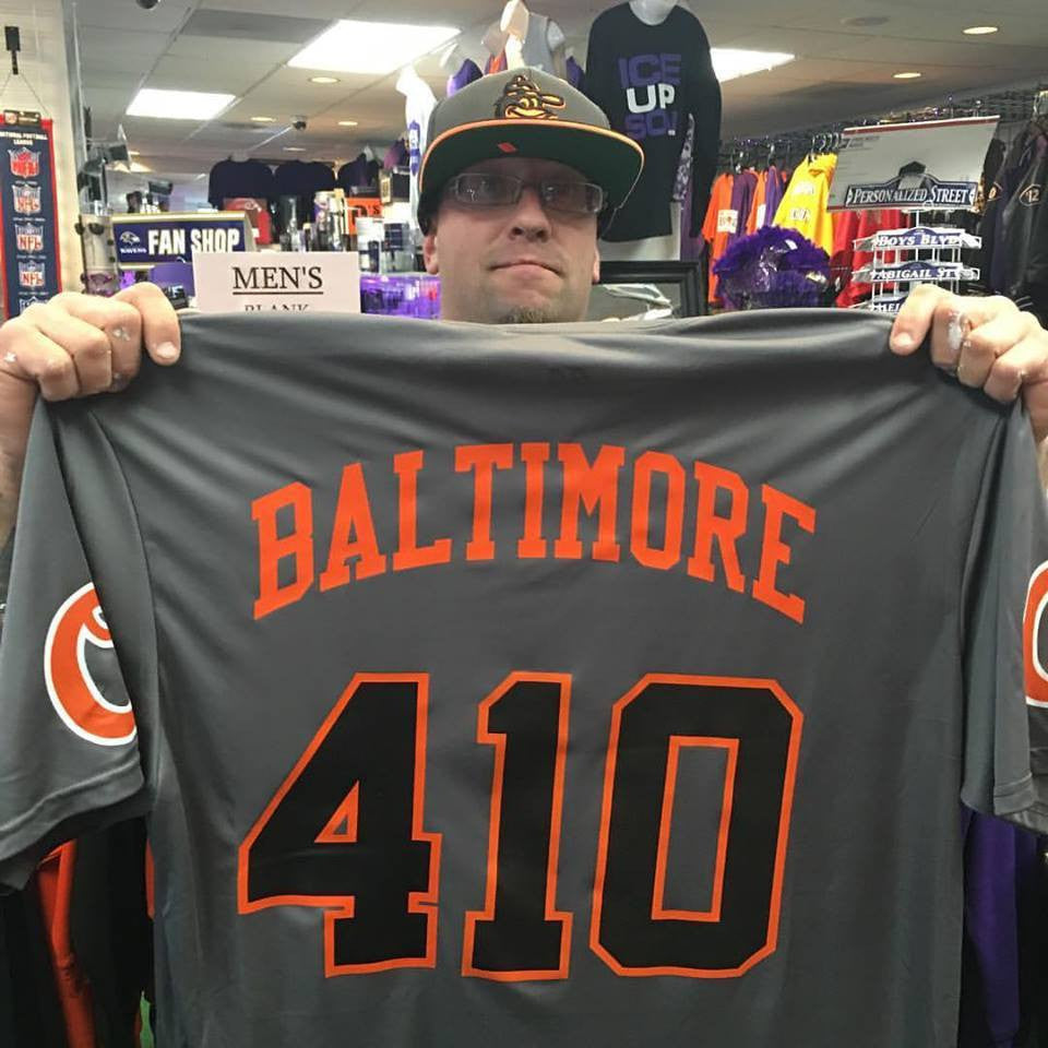 Baltimore 410 Orioles Gray Jersey