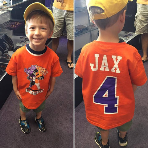 Custom Beast of The East Baltimore Ravens Orioles Kids Tshirt