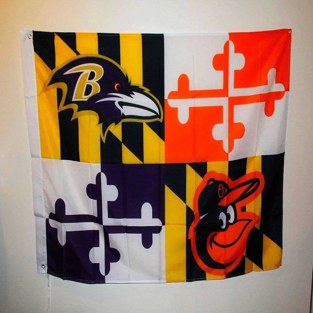 Ravens & Orioles 3x5 Maryland House Flag