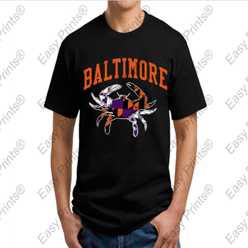 Baltimore Maryland Ravens Orioles Crab T-Shirt
