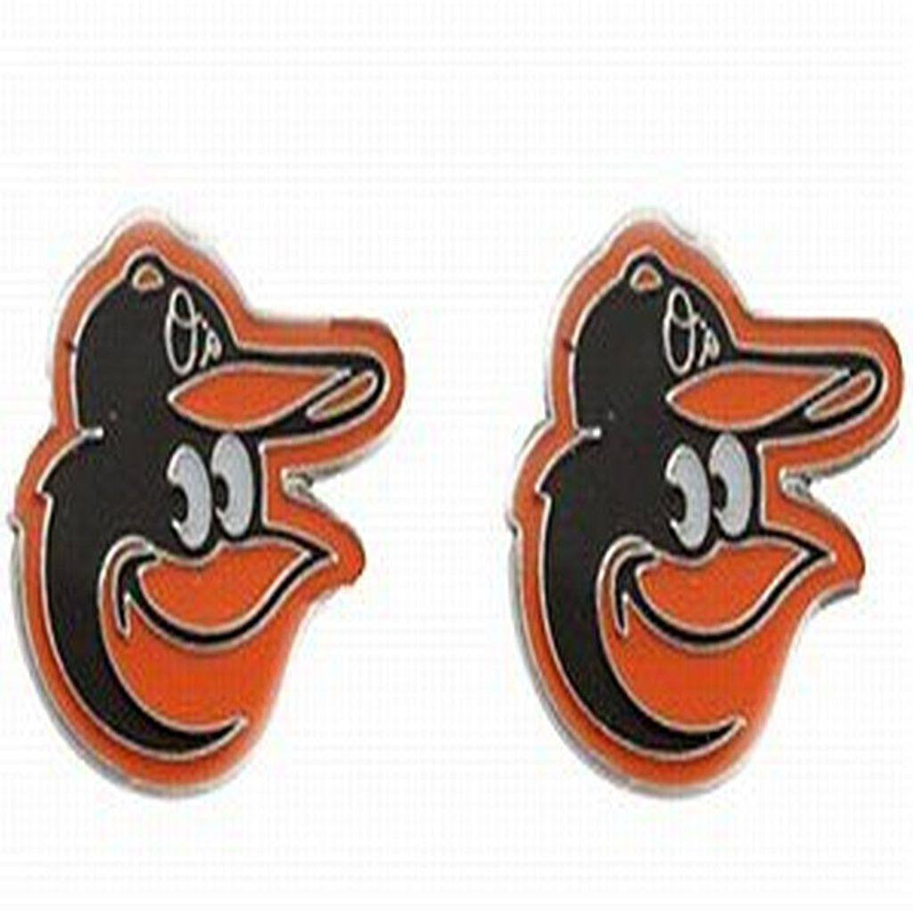 Baltimore Orioles Bird MLB Silver Post Earrings